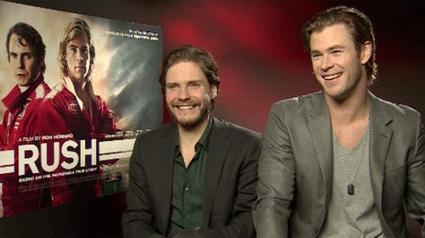 Daniel Brühl and Chris Hemsworth talk about Ron Howard's Rush