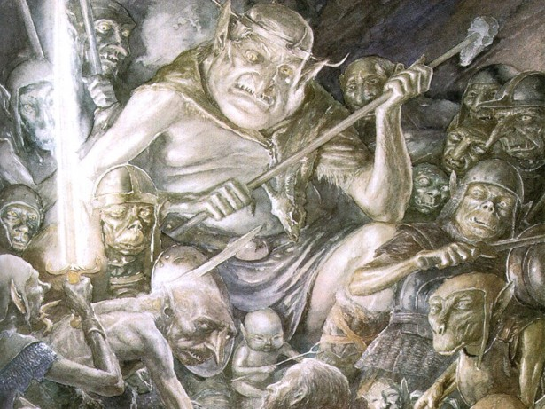 Alan_Lee_-_The_Hobbit_-_23_-_The_great_goblin