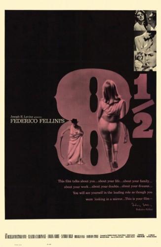 Fellini ocho y medio poster