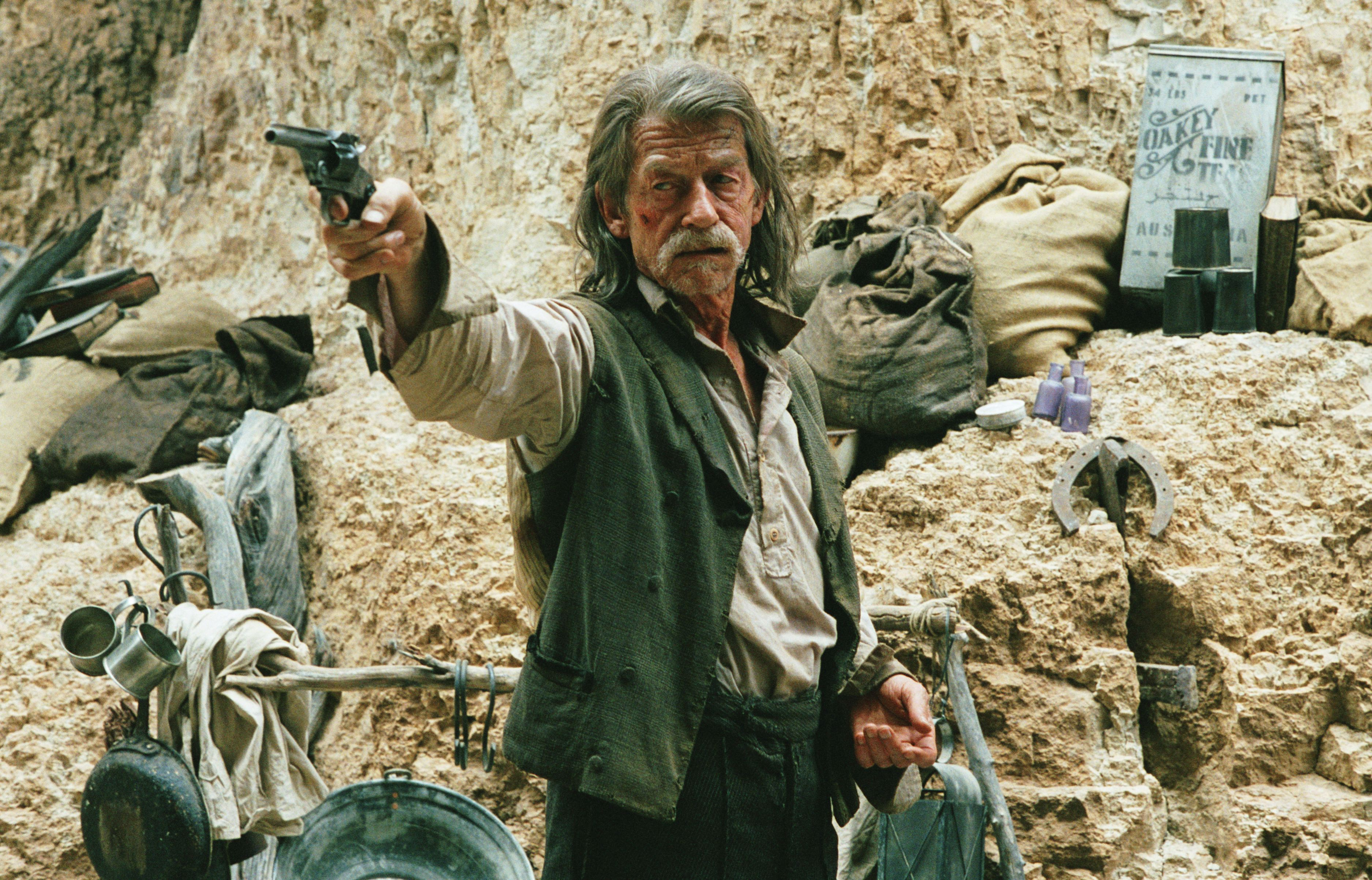 John Hurt as Jellon Lamb in John HillcoatÔÇÖs ÔÇÿThe PropositionÔÇÖ.4, photo by Kerry Brown_