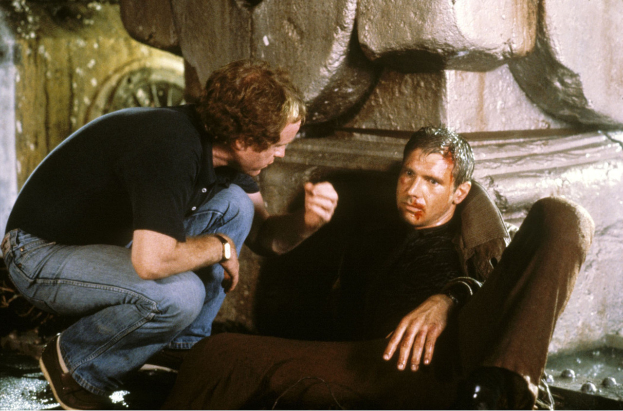 7-Ridley Scott & Harrison Ford