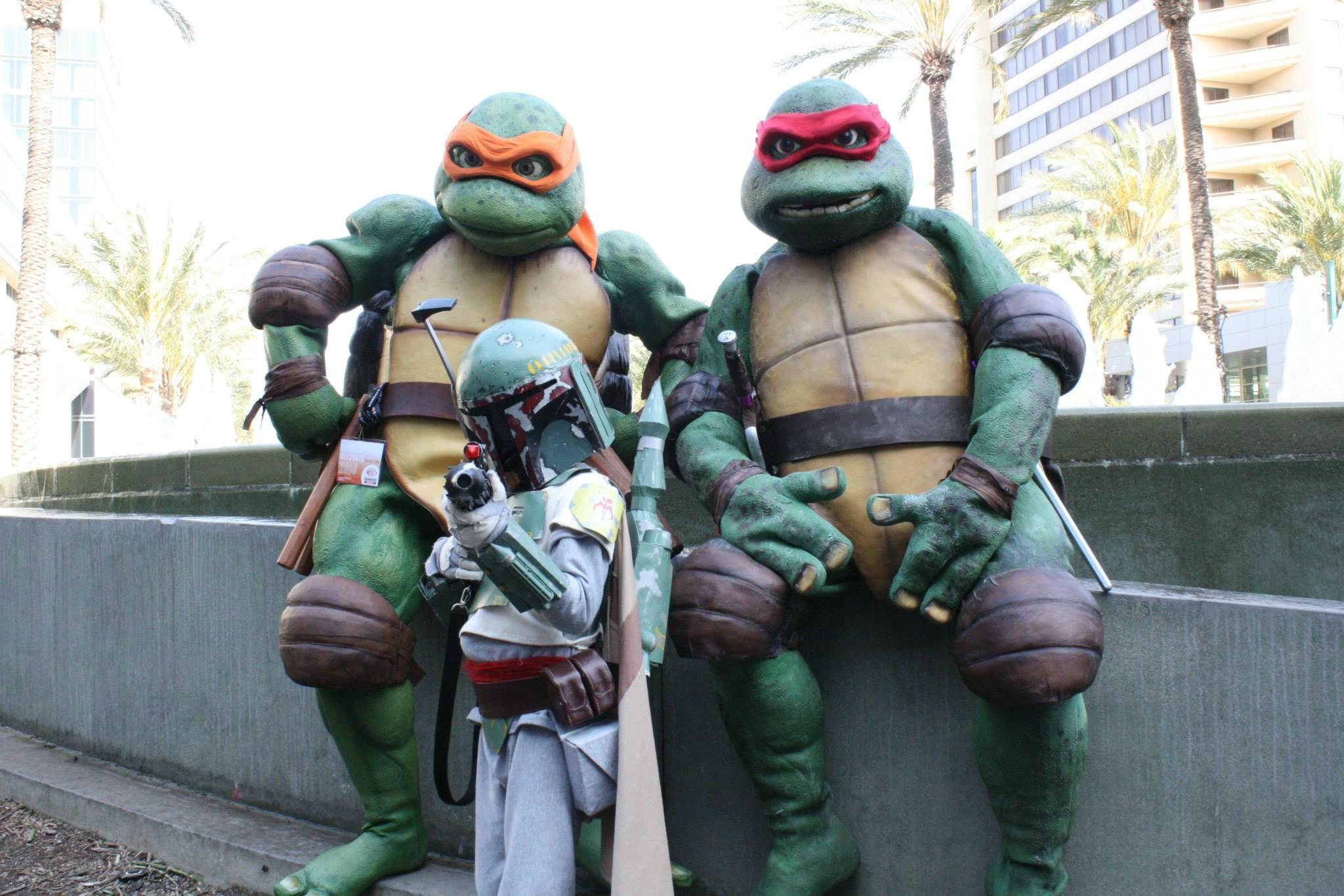 Aquí de niño echando barrio con mis amigos las tortugas originales