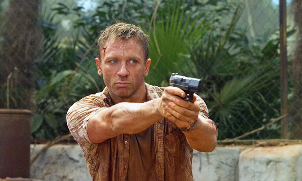 Depth charge ? Daniel Craig, aka the 'blond Bond', in Casino Royale (2006).