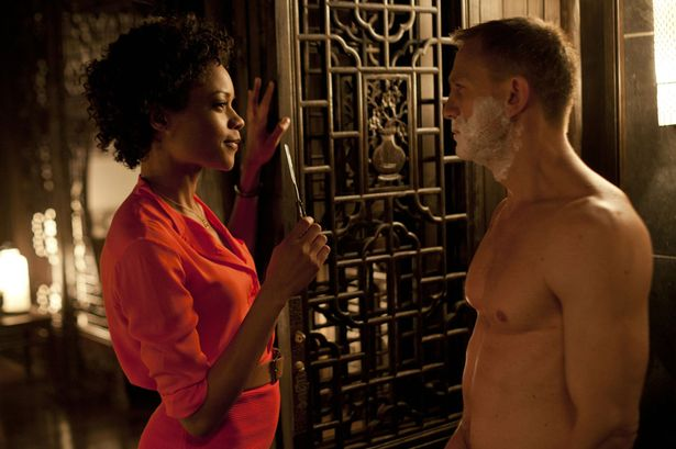 Naomie Harris and Daniel Craig in Skyfall