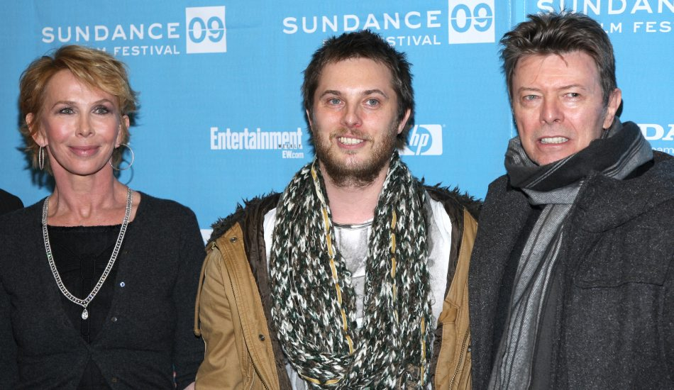 (L-R) Producer Trudie Styler, director Duncan Jones and musician David Bowie attend the 'Moon' premiere during the 2009 Sundance Film Festival at the Eccles Theater on January 23, 2009 in Park City, Utah. © RD/ Leon / Retna Digital