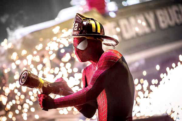 amazing-spider-man-2-stills-spidey-as-a-firefighter