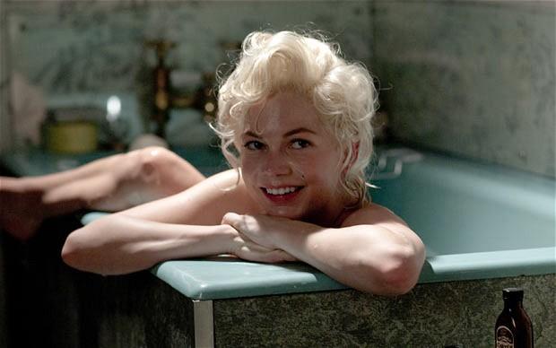 Marilyn Monroe interpretada por Michelle Williams