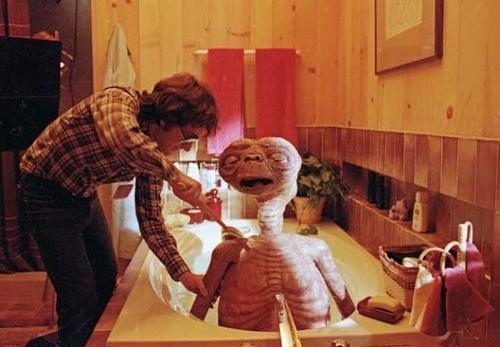 Spielberg bañando a sus criaturas