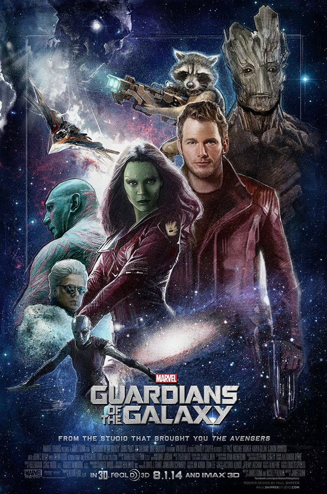 Stunning GUARDIANS OF THE GALAXY Poster Art by Paul Shipper