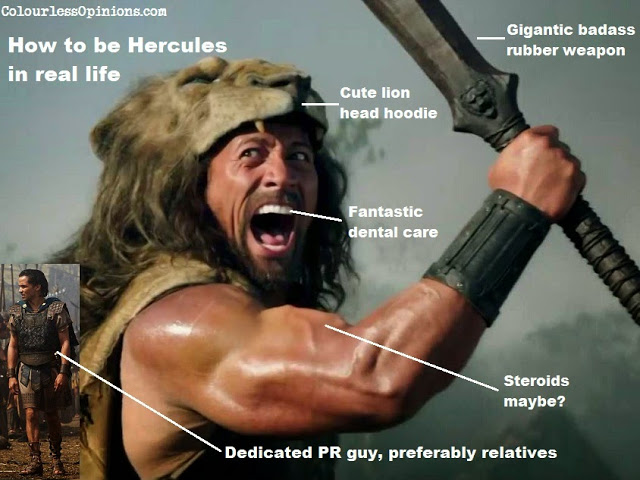 The Rock Dwayne Johnson as Hercules 2014 meme movie still