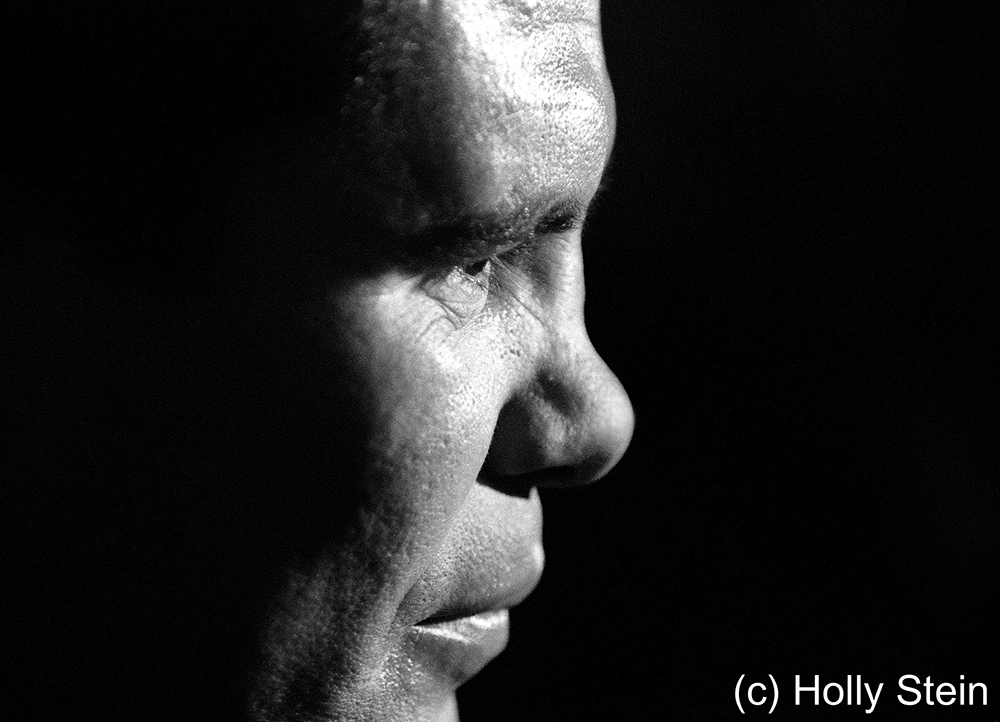 Julio Cesar Chavez at a press conference.