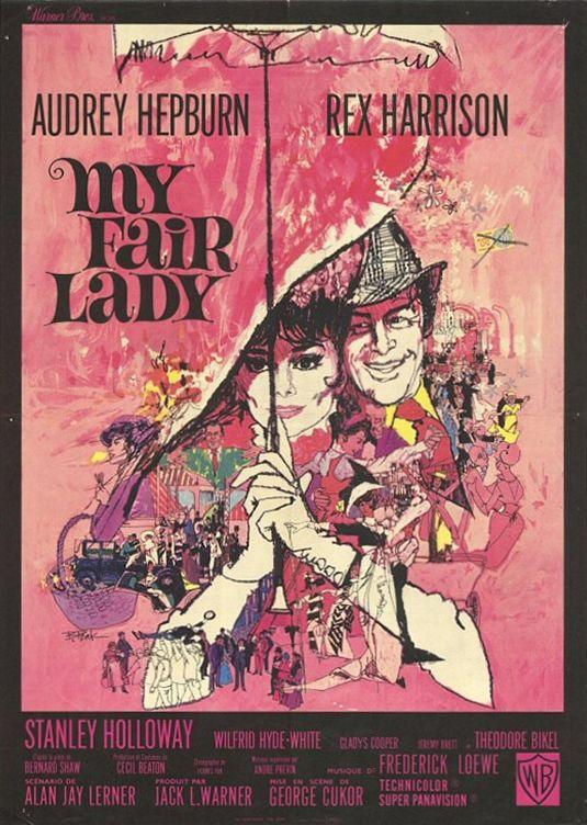 My Fair Lady (poster) - Audrey Hepburn