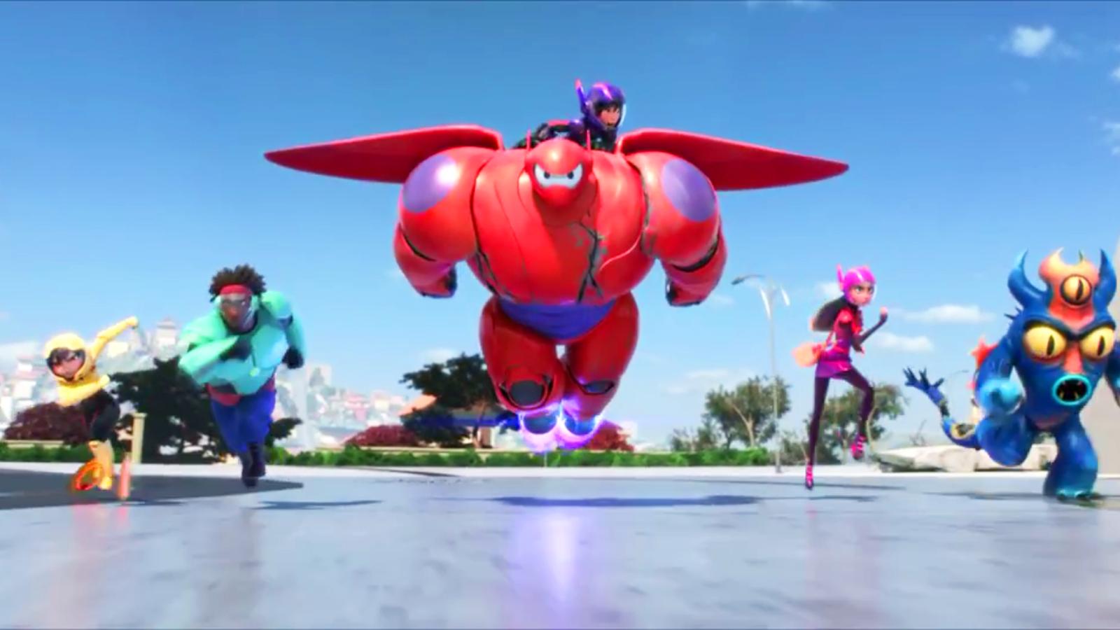 big hero 6 walt disney 2014 still screencaps personajes characters fredzilla baymax hiro hamada honey lemon gogo tomago wasabi no ginger