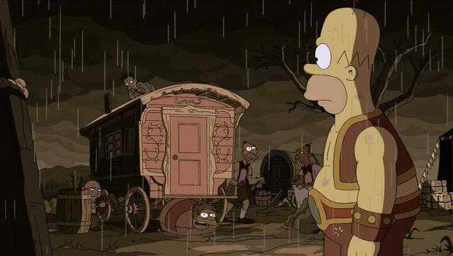 The-Simpsons-Treehouse-of-Horror-XXIV-Freaks-no-Geeks-Homer-strongman