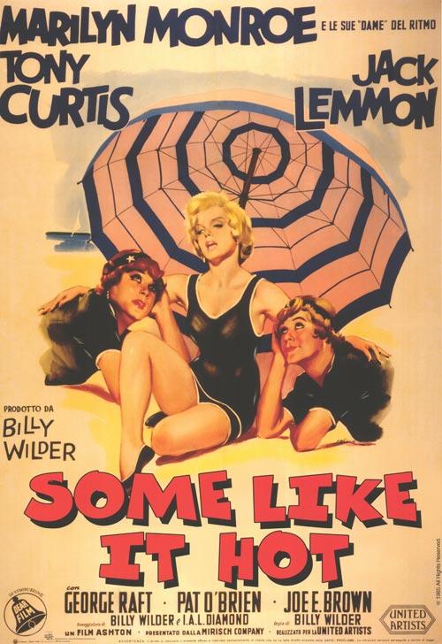 Marilyn Monroe en Some like it hot - movie poster
