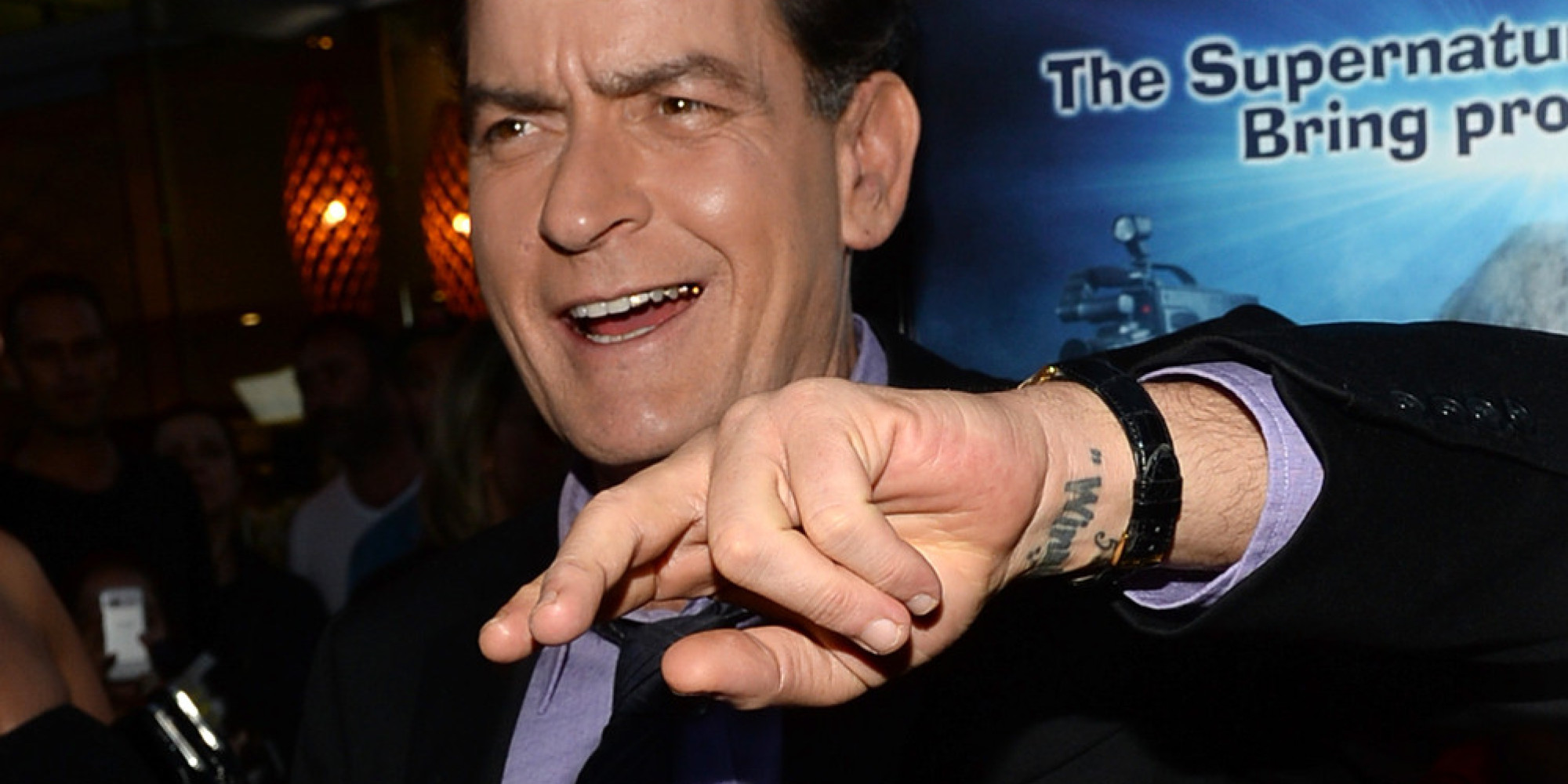 "HOLLYWOOD, CA - APRIL 11:  Actor Charlie Sheen arrives for the premiere of Dimension Films' ""Scary Movie 5"" at ArcLight Cinemas Cinerama Dome on April 11, 2013 in Hollywood, California.  (Photo by Michael Buckner/Getty Images)"