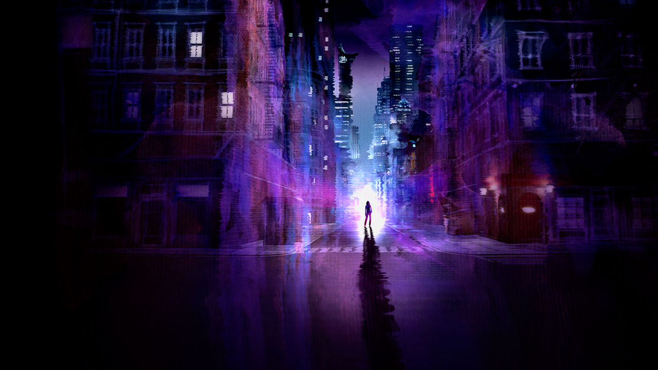 purple jessica jones intro