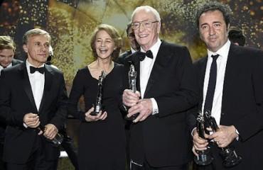 De izquierda a derecha: Christoph Waltz, Charlotte Rampling, Michael Caine y Paolo Sorrentino