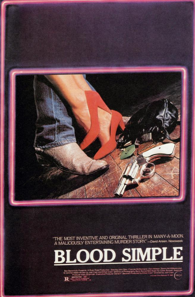 BLOOD SIMPLE, poster, 1984, (c) Circle Films