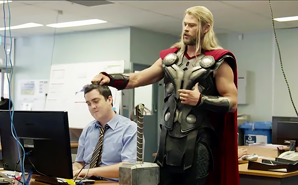 Marvel Studios Team Thor YouTube clip (screengrab)