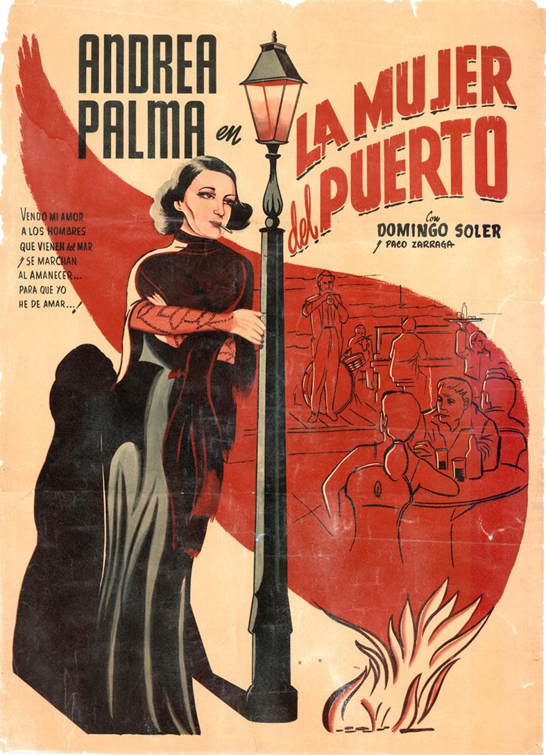 La mujer del puerto (poster) - cine mexicano