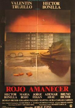 Rojo amanecer (poster) - cine mexicano