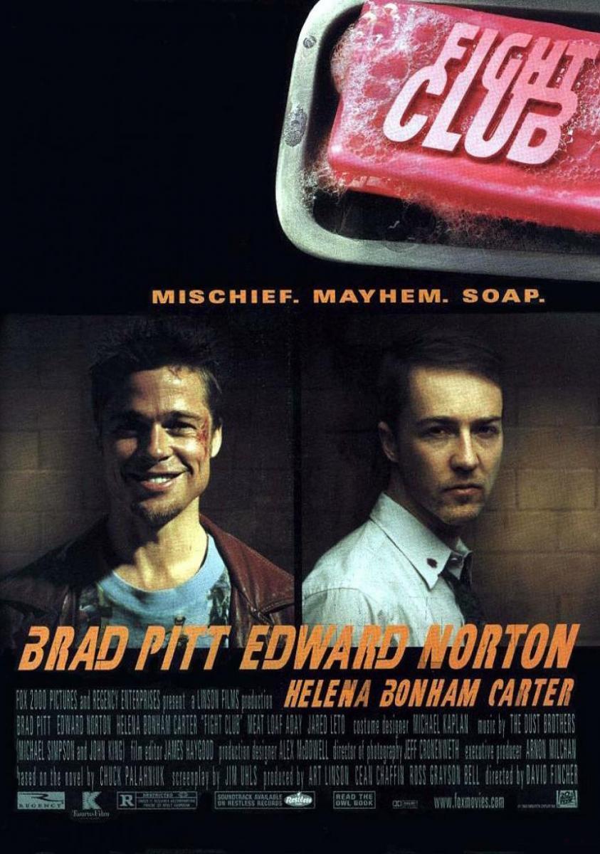 Fight Club (póster) - Brad Pitt