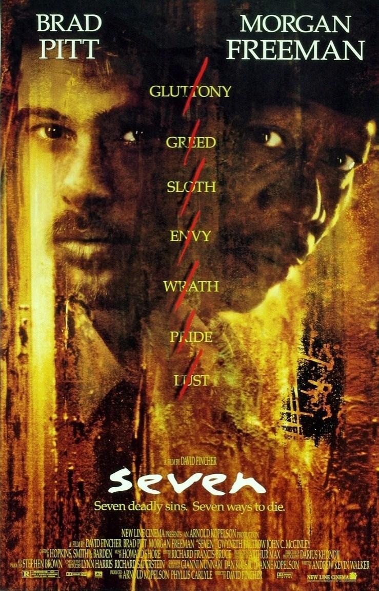 Seven (póster) - Brad Pitt