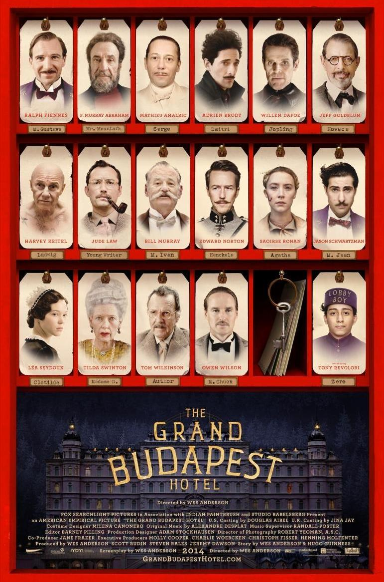 The Grand Budapest Hotel (póster) - Wes Anderson