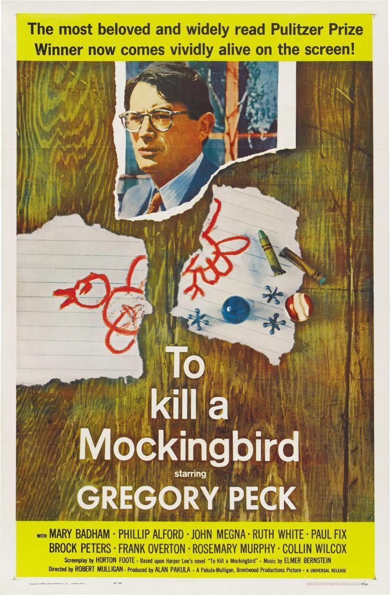 Gregory Peck en To Kill a Mockingbird (poster)