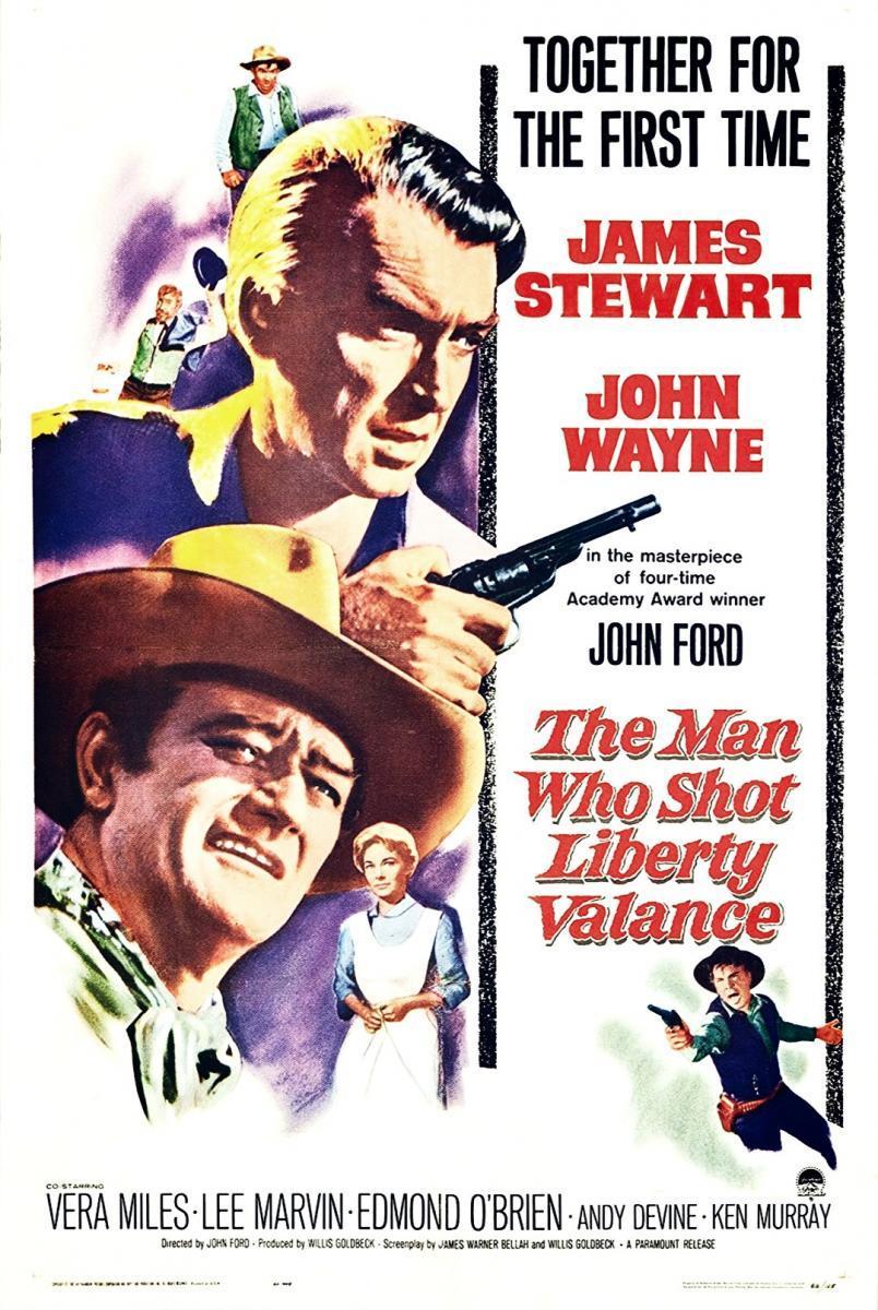The Man Who Shot Liberty Valance (póster) - James Stewart