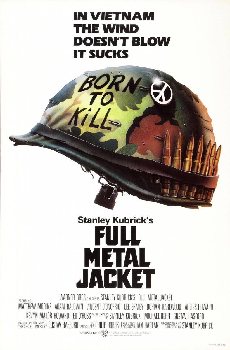 Full Metal Jacket - Stanley Kubrick (póster)