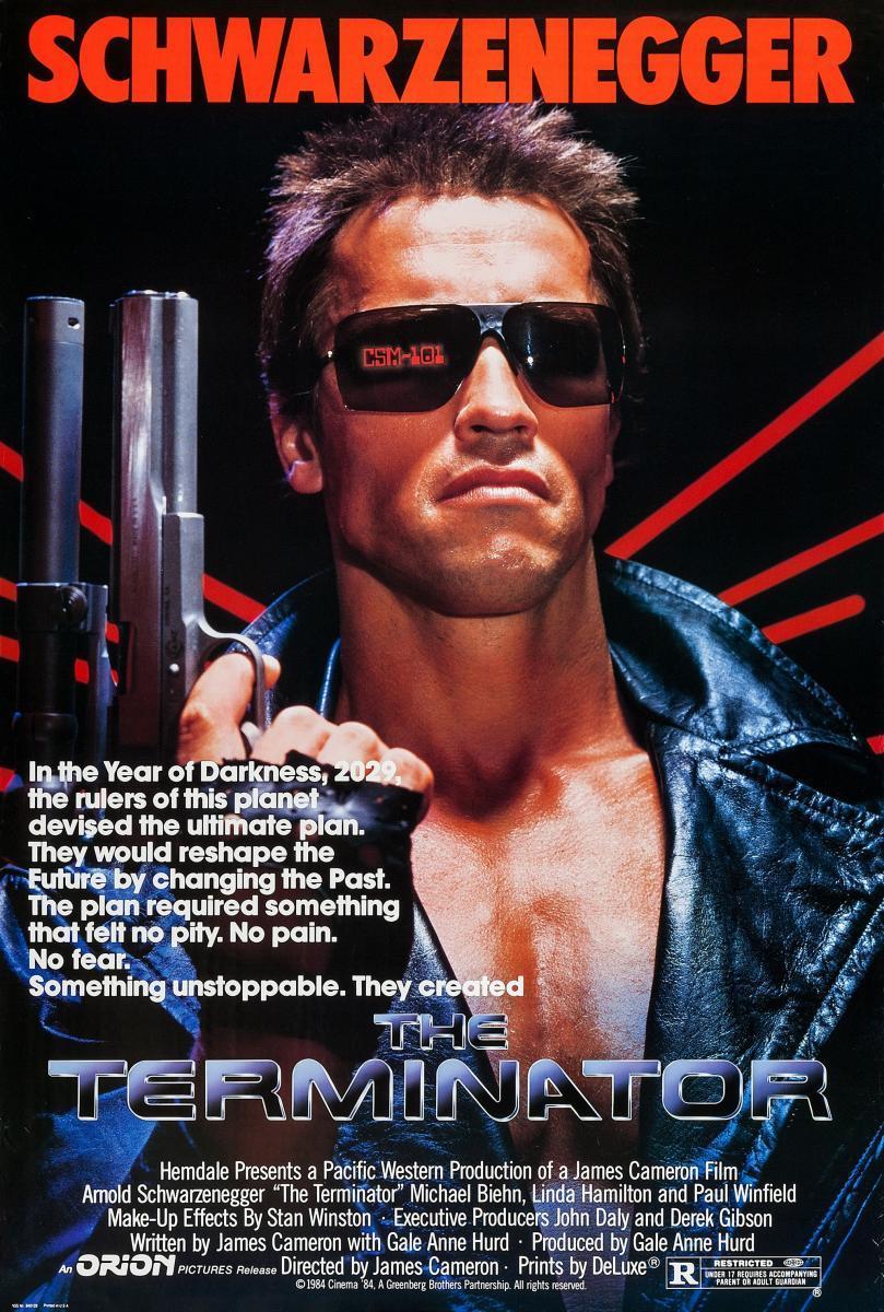 The Terminator (póster) - Arnold Schwarzenegger