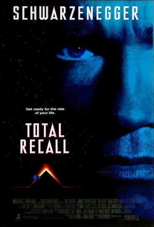 Total Recall (póster) - Arnold Schwarzenegger