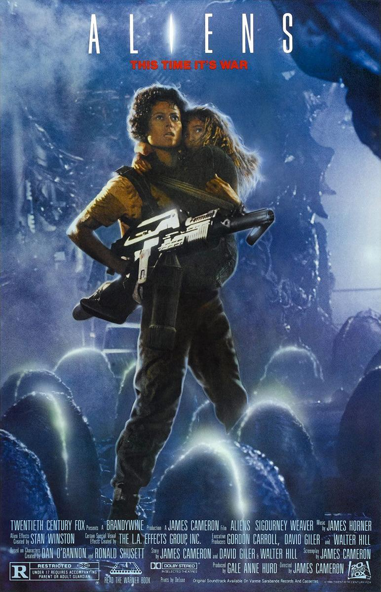 Aliens (poster) - Sigourney Weaver