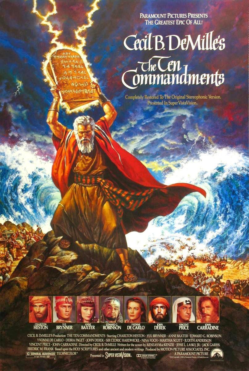 The Ten Commandments (póster) - Charlton Heston