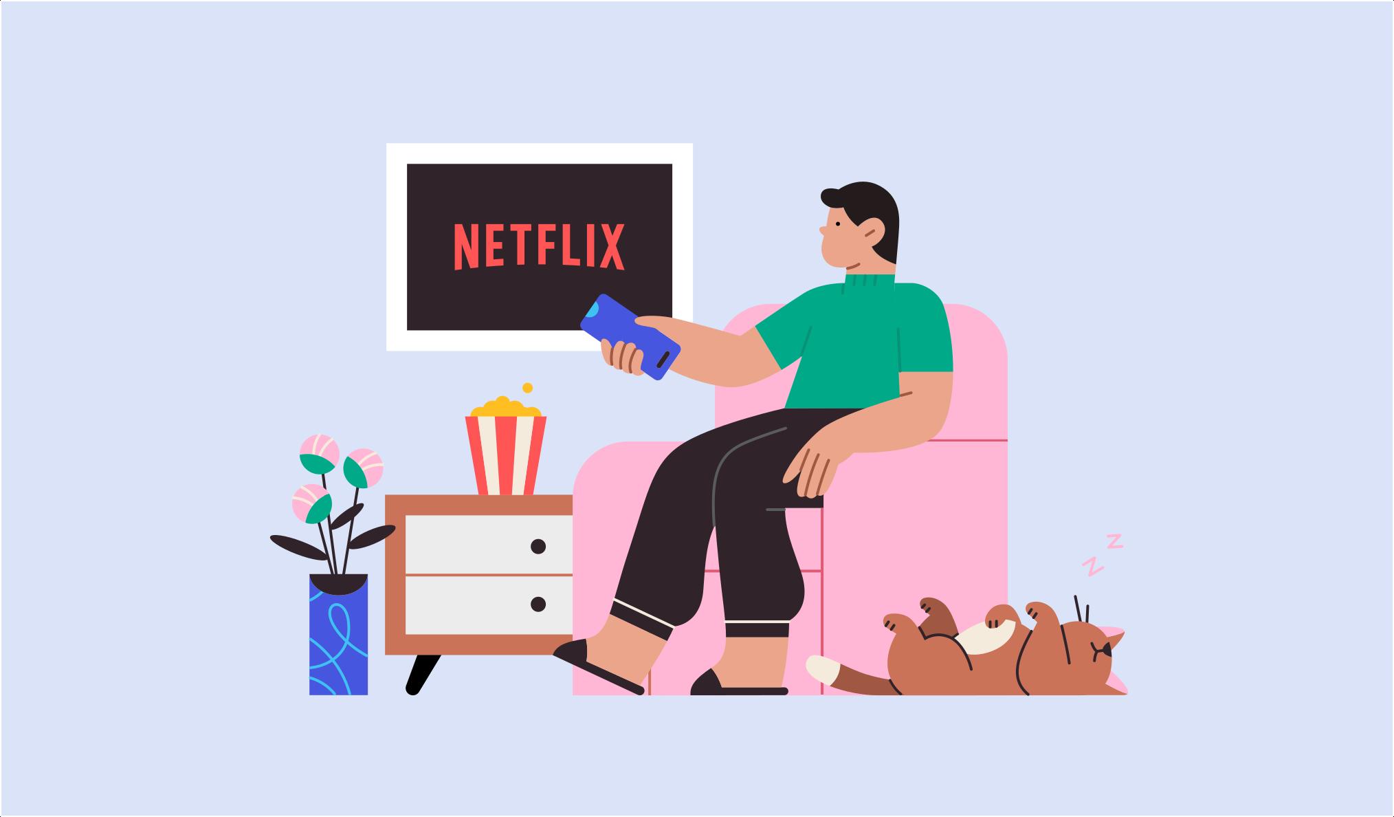 Cine en casa - ilustración