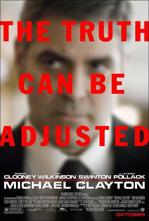 The Truth Can Be Adjusted (póster) - George Clooney