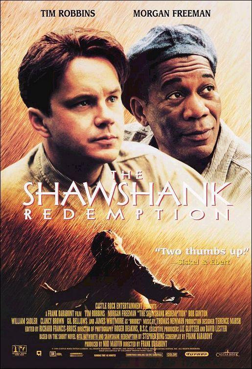 Morgan Freeman en The Shawshank Redemption (póster)